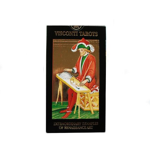 Visconti Sforza Tarot Cards, Deluxe Gold Impressions and Multilingual Instructions